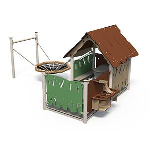 Spielhaus mit Küche und Vogelnest – Müller Spielgeräte