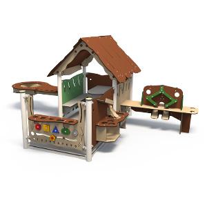 Spielhaus mit Matschtisch, Küche, Sandmaschine und Kiosk ...